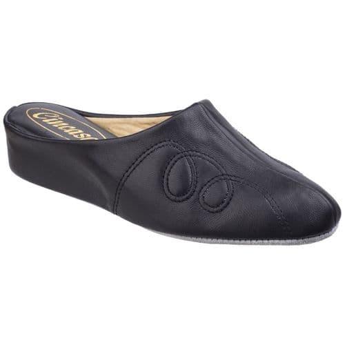 Cincasa Mahon Slipper Mule Ladies Slippers Black